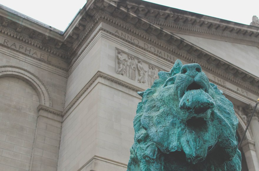 Outside the Art Institute