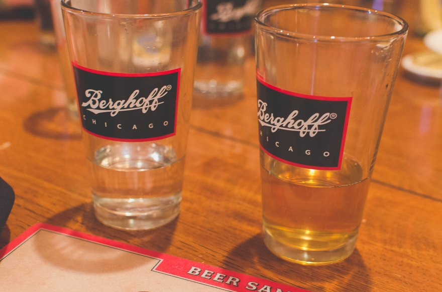 A late lunch/early dinner at the Berghoff with a delicious beer flight