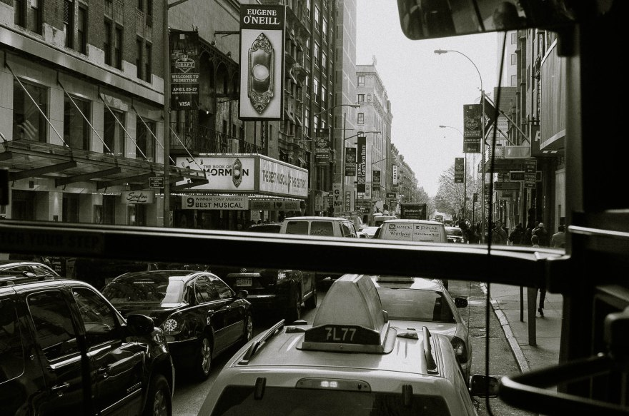 I can't tell you how much I enjoy seeing the city from the height of a bus